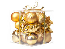 Box with xmas ball Stock Image