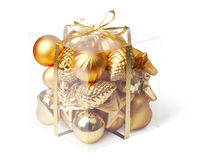 Box with xmas ball Stock Photography