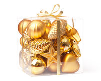 Box with xmas ball Royalty Free Stock Photos