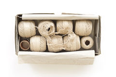 Box of yarn Stock Photography
