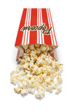 Spilled Popcorn Box Royalty Free Stock Images