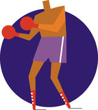 Boxare vektor illustrationer