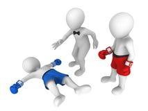 boxare 3d knockout Arkivbild