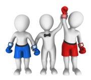 boxare 3d Vinnare Arkivfoto