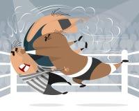 Boxare i cirkeln stock illustrationer