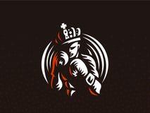 Boxare i kronan royaltyfri illustrationer