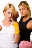 boxare sexiga två Arkivfoto