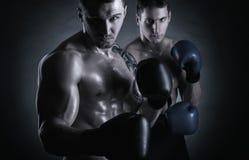 boxare två Arkivfoto