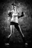 boxarekvinna Arkivbild