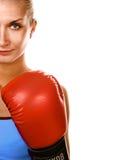 boxarekvinna Royaltyfri Foto
