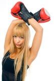 boxarekvinna Arkivbilder