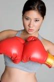 boxarekvinna Fotografering för Bildbyråer