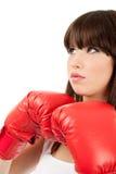boxarekvinnlig Arkivfoto