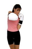 boxarekvinnlig arkivfoton