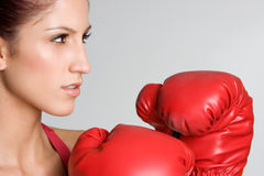 boxarekvinnligkvinna Royaltyfria Foton