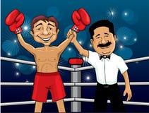 boxarevinnare Arkivfoton