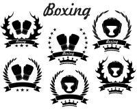 boxas royaltyfri illustrationer