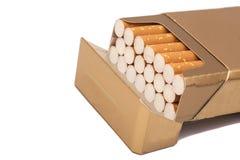Boxas av cigaretter Arkivbild