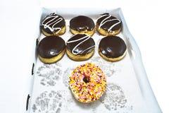 Boxas av Donuts Royaltyfri Fotografi