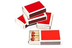 Boxas av matcher Arkivbilder