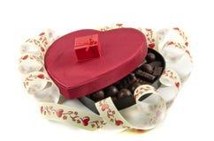 Boxas i form av hjärta med godisen Royaltyfri Bild