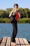 boxas kickkvinna Royaltyfria Bilder