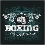 Boxas mästaren - tappningvektorkonstverk för t Royaltyfri Bild