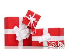 Boxas med xmas-gåvor fotografering för bildbyråer