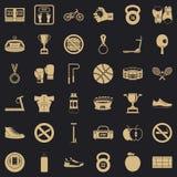 Boxas påsesymbolsuppsättningen, enkel stil stock illustrationer