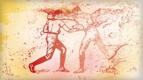 Boxas som är rött Fotografering för Bildbyråer