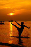 boxas som är thai fotografering för bildbyråer
