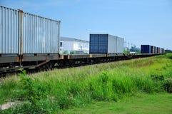 Boxcar train on the way Stock Photo