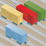 Boxcars in Railyard Royalty Free Stock Images