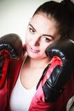 Boxe convenable de femme Photos libres de droits