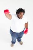 Boxe d'Afro-américain image libre de droits