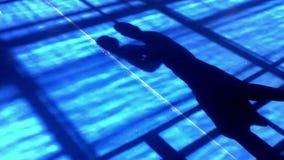 Boxe d'ombre au mouvement lent banque de vidéos