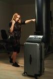 Boxe de femme de forme physique de SME Images libres de droits