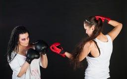 Boxe de filles Images stock