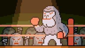 Boxe de gorille d'art de pixel d'animation clips vidéos