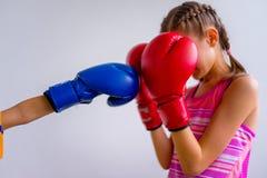 Boxe de l'adolescence de fille Photos libres de droits