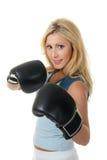 Boxe femelle blonde Images libres de droits