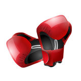 Boxe gloves isolated. Isolated boxer gloves illustration referred to boxe match and sport Stock Images