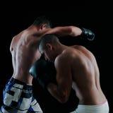 Boxe pour deux hommes Photographie stock libre de droits