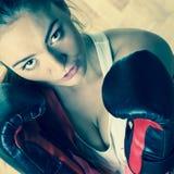 Boxe sportive convenable de l'Oman Photo libre de droits