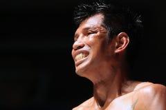 Boxe tailandês internacional, K1, Muay tailandês - Kaoponlek Fotografia de Stock