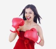 Boxeador asiático de la señora Fotografía de archivo libre de regalías