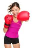Boxeador - boxeo de la mujer de la aptitud Imágenes de archivo libres de regalías