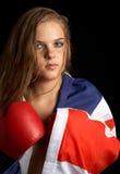 Boxeador británico Imagen de archivo libre de regalías