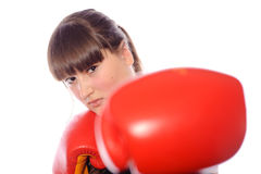Boxeador de la hembra de la mujer Imagen de archivo