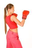 Boxeador de la muchacha Fotografía de archivo libre de regalías